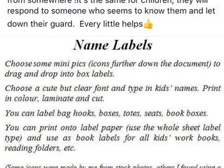 Labellingtips