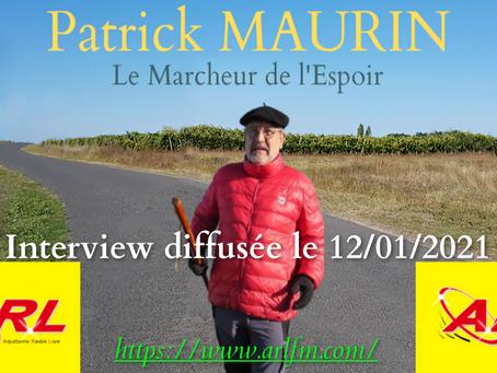 Patrick Maurin sur ARL Fm le 12 janvier 2021
