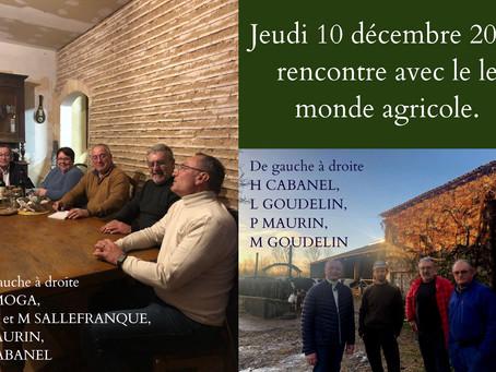 Rencontre avec les sénateurs Henri CABANEL et Jean-Pierre MOGA