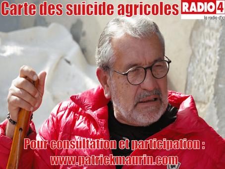 Radio4 - Interview du 0/10/2019: Carte des suicides agricoles.