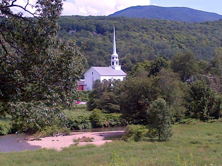 VT Stowe steeple