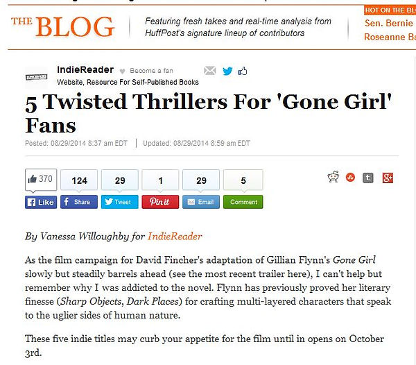 Huffington Post, Gone Girl, thriller, dysfunction, What Jennifer Saw, Hal Schweig