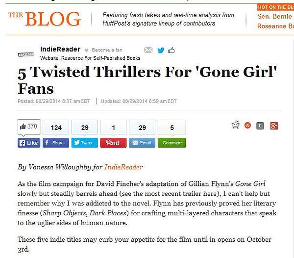 Huffington Post, Gone Girl, thriller, dysfunction, What Jennifer Saw, Hal Schweig