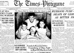 Times Picayune front page 05.25.42