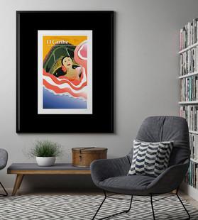 Puerto Rican Dancer Illustration Poster