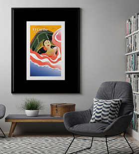 Puerto Rican Dancer Illustration Poster