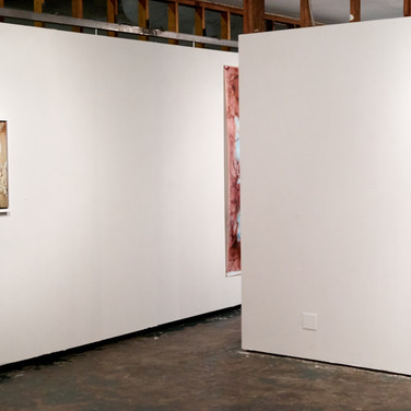 installation view, back gallery space