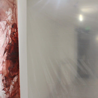 installation view, detail, second corridor