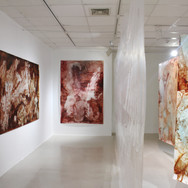 installation view, first and second corridor