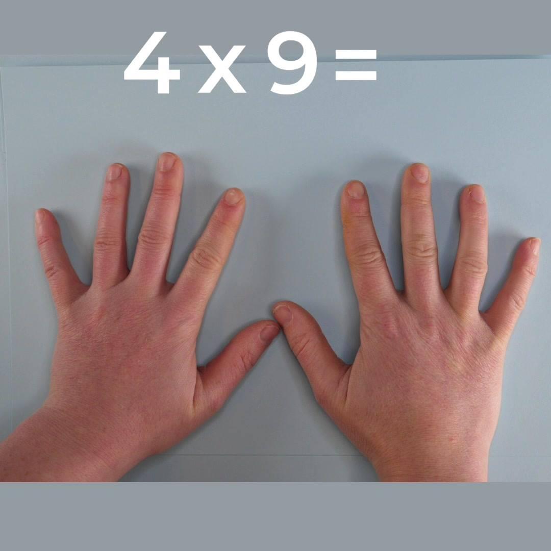 Mattetriks: 9-gangen på fingrene