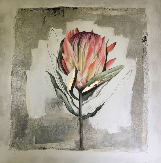 Semi abstracted protea
