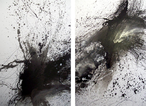 black splats