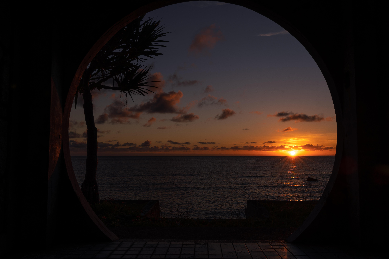 与那国島 ダンヌ浜の夕日