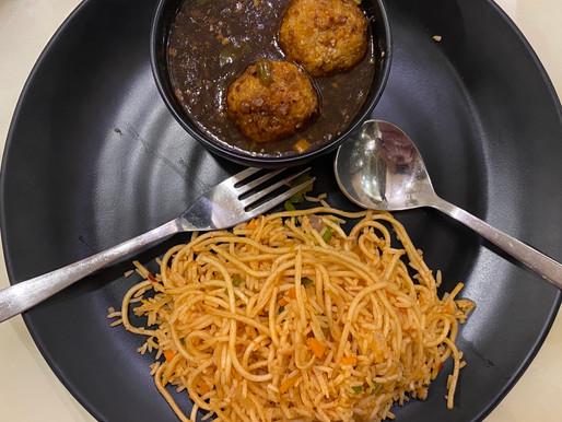 Triple Schezwan Fried Rice and Manchurian🍛
