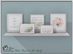 Rain Flower Art Shelf