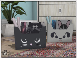 Kitty & Puppy File Boxes