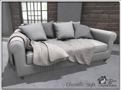 Chenille Sofa (Neutral)
