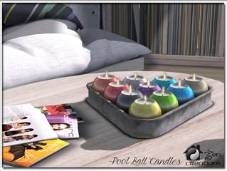 Pool Ball Candles