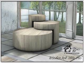 Wooden Link Table Set
