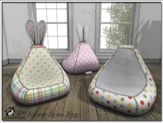 Bunny Bean Bag & Bean Bag