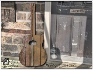 Wooden Guitar Deco