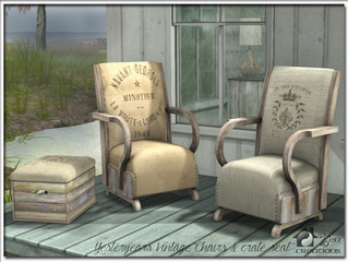 Yesteryears Vintage Chairs & Crate Seat