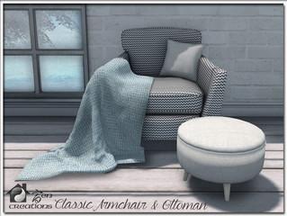 Classic Armchair & Ottoman