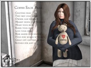 Interactive Coffee Sack Bear