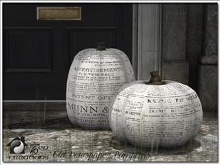 Old Newspaper Pumpkins