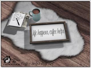 Coffee Helps Rug Set