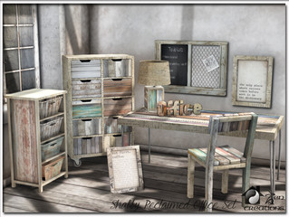 Shabby Reclaimed Office Set