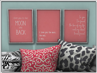 Love Quotes Art Trio