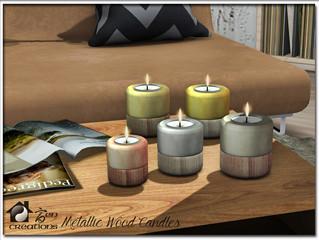 Metallic Wood Candles