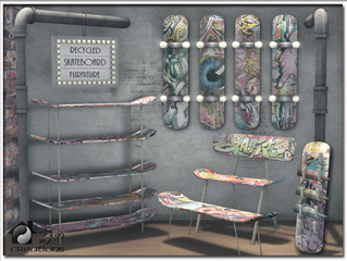Recycled Skateboard Furniture Collection
