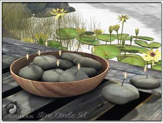 Stone Candle Set