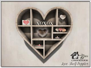 Heart Shelf Poppler