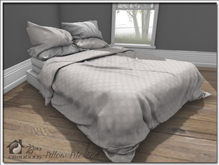 Pillow Pile Bed
