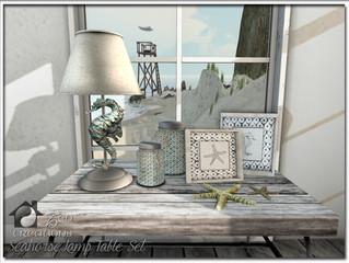 Seahorse Lamp Table Set