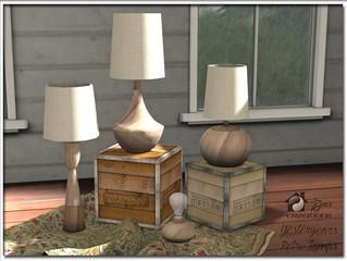Yesteryears Vintage Lamp Set