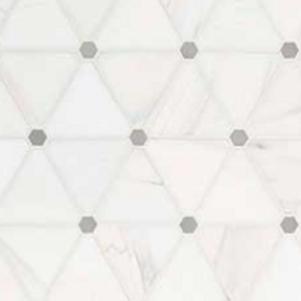 Bianco Dolomite Pinwheel Polished