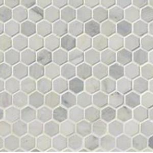 "Arabescato Carrera 1"" Hexagon Honed"