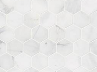 "Calacatta Cressa 2"" Hexagon Honed"