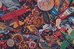 Queens acrylic on canvas 36 x 54 1998