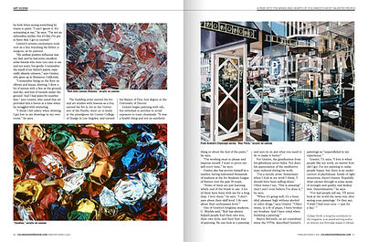 Artist Rob Gratiot in Colorado Expressions magazine Feb/March 2021 Issue - Second Spread