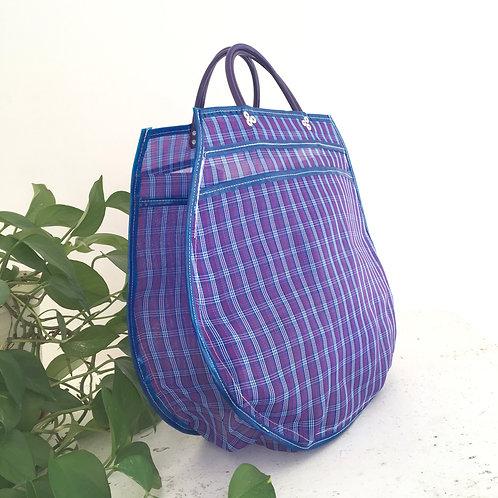 Cabas XL - Sett Violet/Bleu Marine