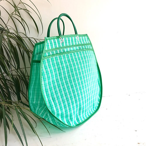 Cabas XL - Quadrillé Vert/Blanc
