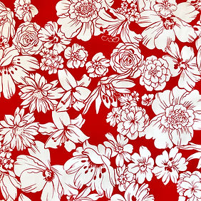 Fleurs Blanches Rouge