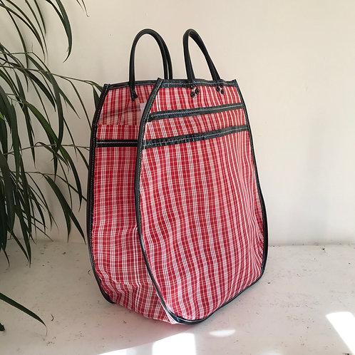 Cabas XL - Quadrillé Rouge/Noir