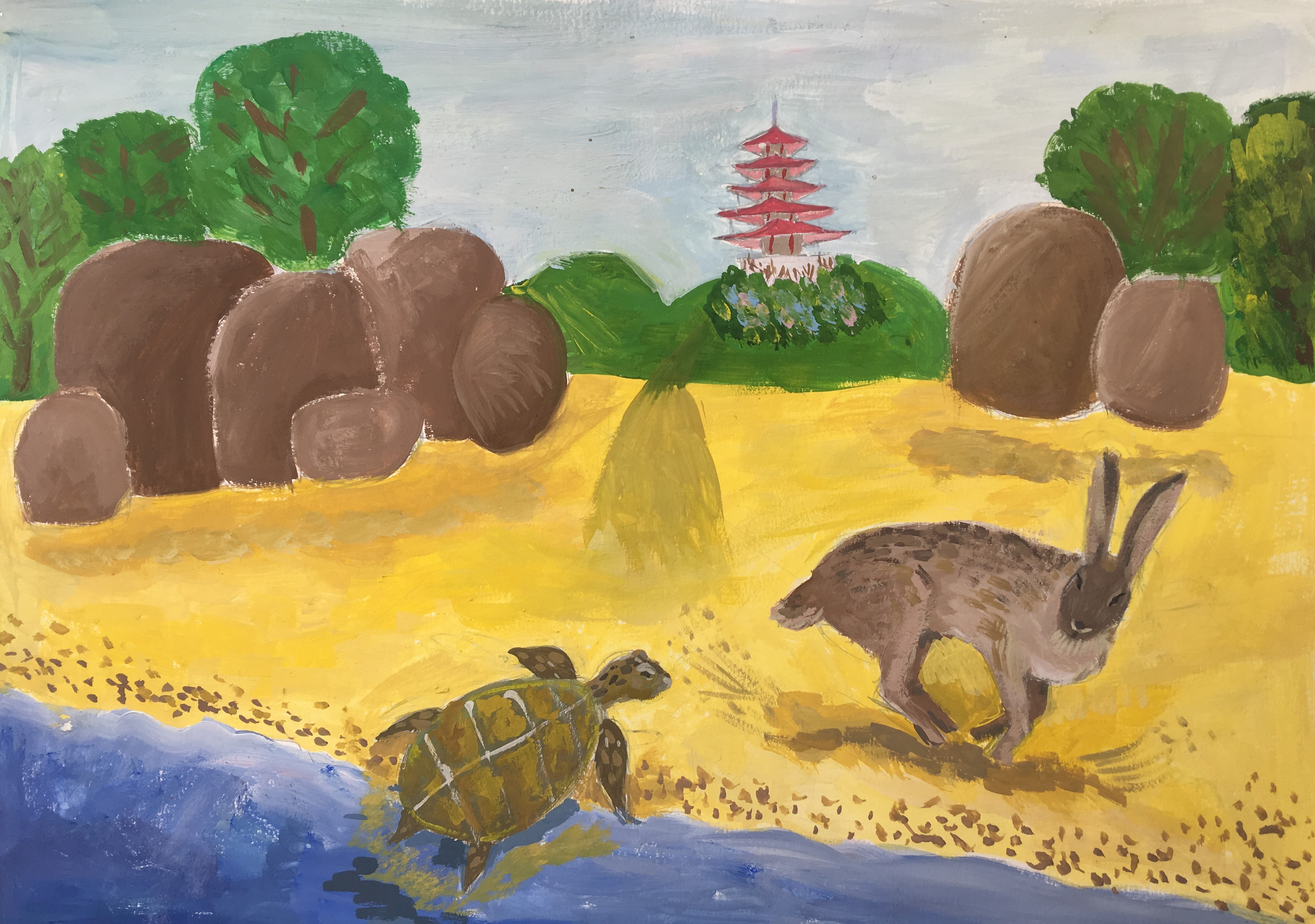 №495_Заяц и черепаха
