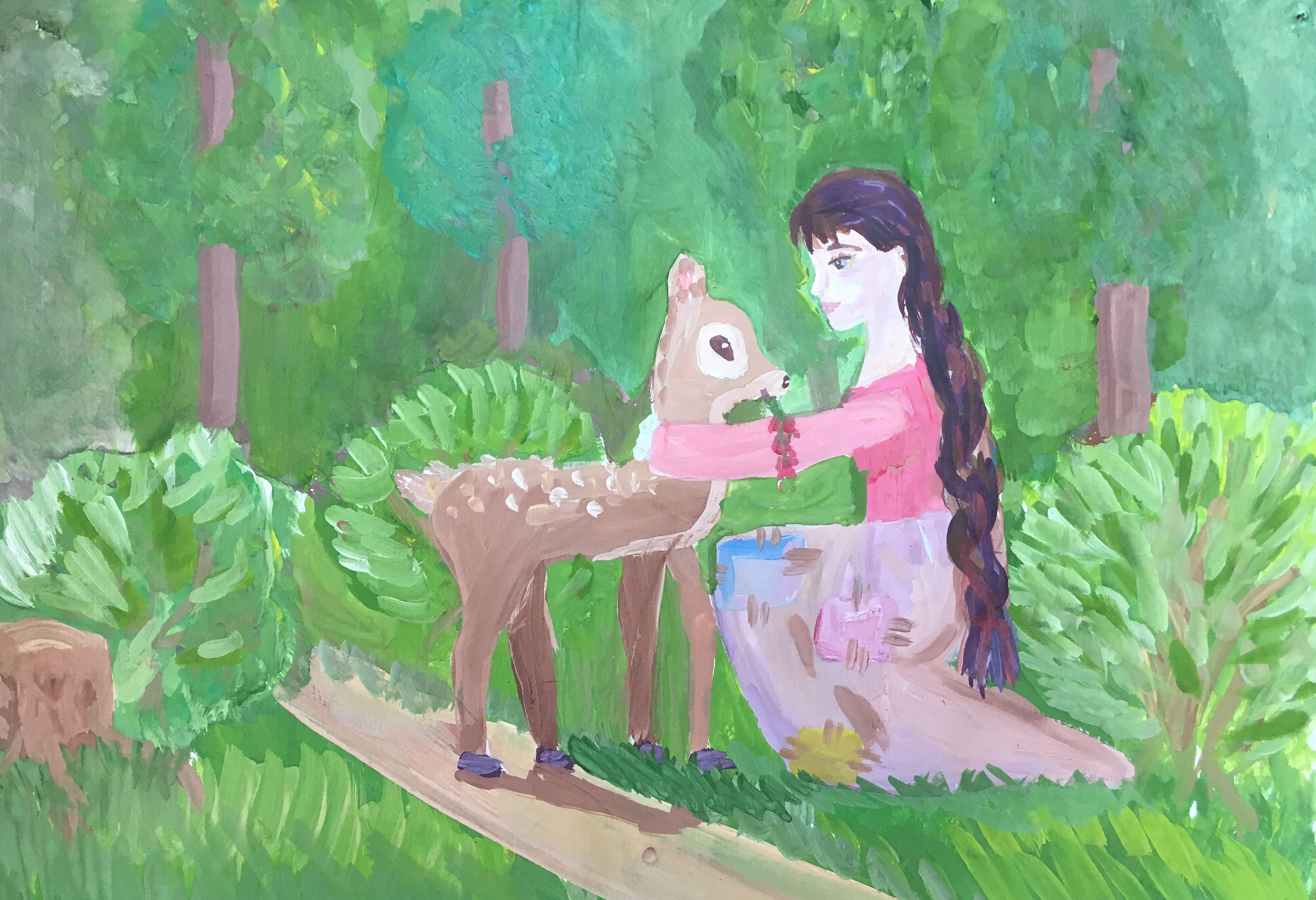 №446_Как девушка оленя спасла